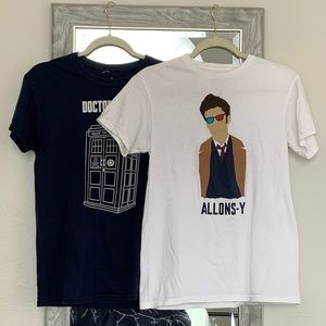 Tops - Two Doctor Who T-shirts Size SM